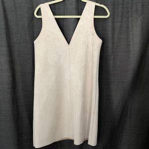 Zara Nude Faux Suede Mini Dress